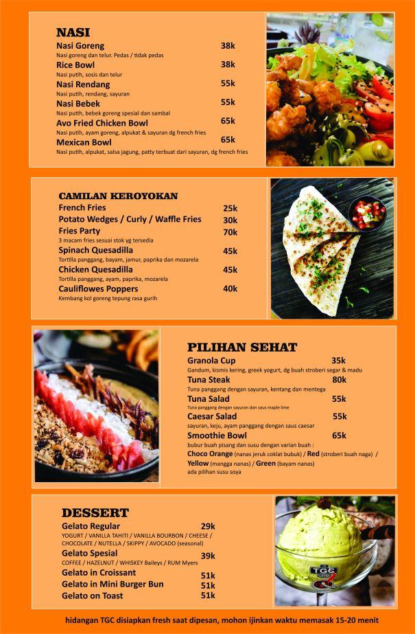menu TGC basra Food 2